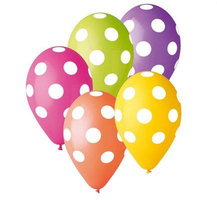 Balóny premium 12´´ bodky 5ks
