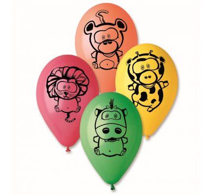 Balóny premium 12´´ zvieratká v džungli 5ks