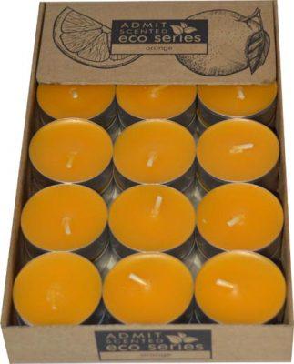 sviečka čajová 30ks orange