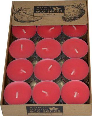 sviečka čajová 30ks strawbery